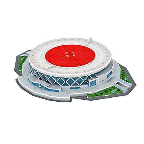 ZLWJ Puzzle 3D Modelo de Arquitectura Kits Papel Rompecabezas en Tres Dimensiones Escultura Regalo para los Adultos Amigos Edificio del Estadio Rompecabezas E-35 * 26.8 * 6.1CM