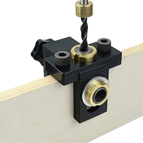 YWSZJ DOWELING Jig Pocket Hole Jig Kit de Madera Perforación Vertical Localizador Desmontable para Muebles Conexión de Orificio Puncher Herramientas de carpintería