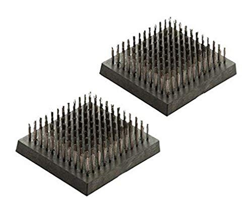 Landmann 13634Pure Grilbürstenset, Stahl, Schwarz, 9x 10x 3cm, 2Stück