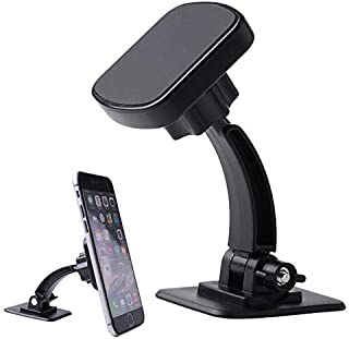 Nuokix Univeisal 2020 Adjustable Magnetic Car Phone Holder Stand Dashboard Cradle Mount Bracket For Mobile Phone GPS Phone...