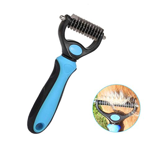Leohome Pet Grooming Comb, Dematting Comb Dog Brush Rake Grooming Tools for...
