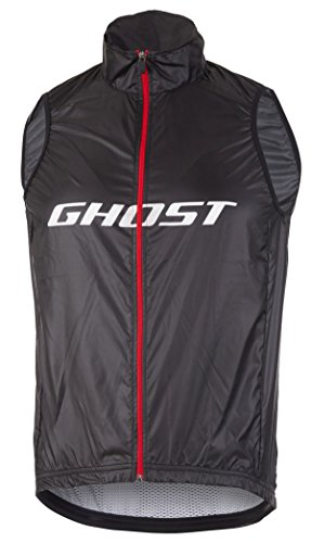 Ghost Factory Racing Vest Night Black/riot red/Star White (XL)