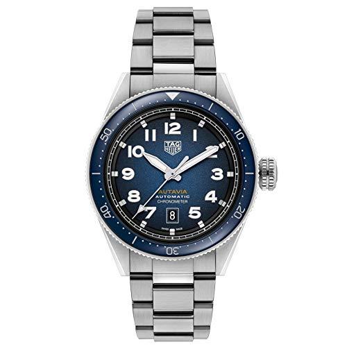 TAG Heuer orologio Autavia 42mm Calibre 5 COSC Ceramica BLU automatico Acciaio WBE5116.EB0173