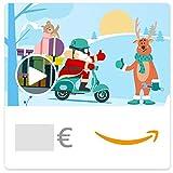 Chèque-cadeau Amazon.fr - E-mail - Père Noël en scooter (animation)