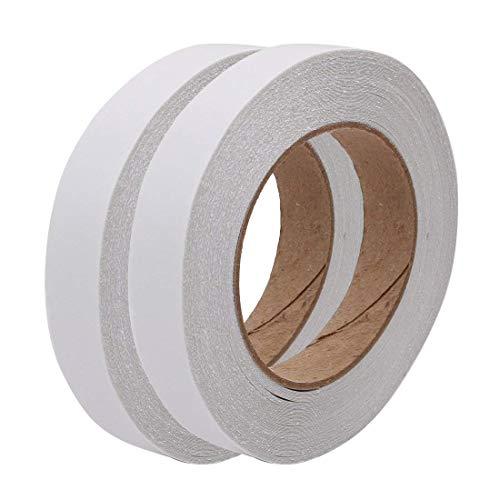 IGOSAIT 2pcs Tela de algodón de algodón adhesivo fuerte de doble cara de 2 piezas Ancho de 35 pulgadas 65.6 pies