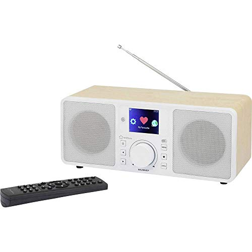 Renkforce RF-IRDAB-RETRO1 Internet Tischradio DAB+, UKW AUX, Bluetooth®, Internetradio, WLAN, LAN D