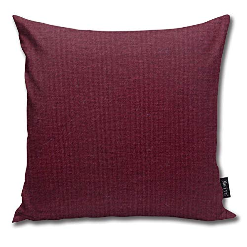Christina Schmitz Colored Skin Texture Natural Faux Claret Maroon Funny Square Throw Pillow Cases Cushion Cover for Bedroom Living Room Decorative 18X18 Inch