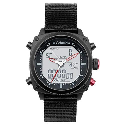 Columbia Ridge Runner Quarzuhr mit Nylon-Armband, Schwarz, 22 (Modell: CSC05-003)