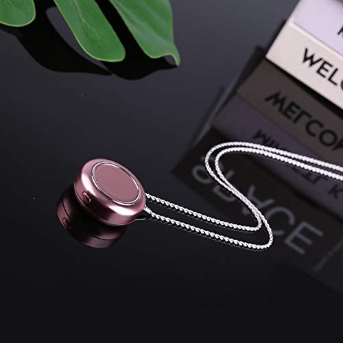 PEIVOR Tragbare Halskette Luftreiniger hängenden Hals Mini Anion Luftreiniger tragbar tragen Formaldehyd,Pink