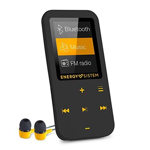 Energy Sistem Touch Amber - Reproductor MP4 con tecnología Bluetooth (16 GB, Auriculares intrauditivos, Radio FM, MicroSD) Color Negro y ámbar