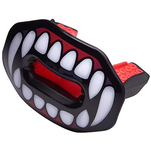 Oral Mart Vampire Fangs Football Lip Guard - Lip Guard Mouthpiece | Lip Protector Mouthguard (Detachable Strap Included)