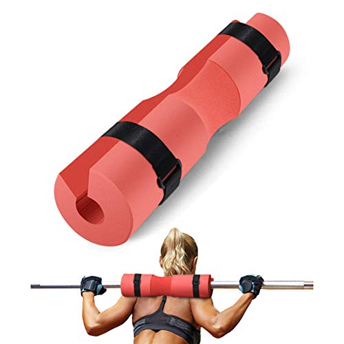 Rabbitstorm Barbell Squat Pad with Secure Straps for Women and Man Great use in Barbell Squats Lunges Hip Thrusts Weight Lifting