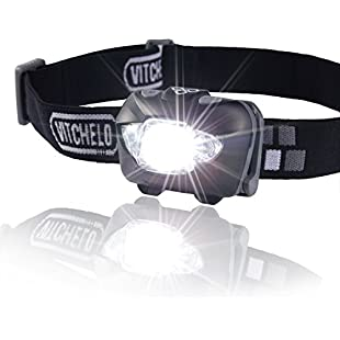 Brightest & Best LED Headlamp Flashlight w/ Red Lights for Night Running, Hunting, Fishing, Camping, Reading, Jogging, Walking - Waterproof, Long Battery Life (Included), Adjustable Beam, Durable, Lightweight, Easy to Use, Lifetime Warranty, 60 Days Money Back Guarantee + Free Bonus! (black)