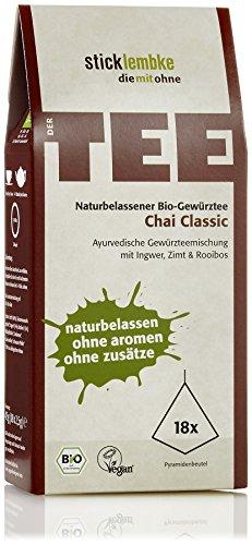 Naturbelassener Ayurvedischer Gewürztee Chai Classic 18 x 2,5 g , Bio