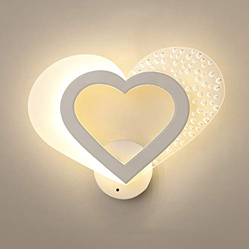 no-branded Modern Warm Romantic Love Personality Creative Led Bedside Lamp Wall Lamp ZHQHYQHHX