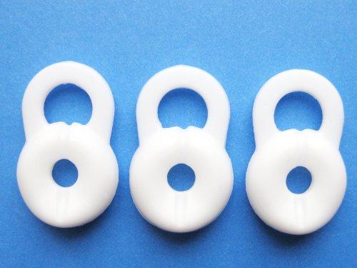 3 Großen Weiß Ersatz Stay-In-Ear Ohrstöpsel für Jawbone Icon HD und Jawbone Prime 1 2 3 Bluetooth Headset