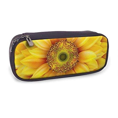 Pencil Case Pen Bag,Sunflower Realistic Eps 10,Large Capacity Pen Case Pencil Bag Stationery Pouch Pencil Holder Pouch with Big Compartments