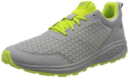 Jack Wolfskin Herren Coogee LITE Low M Sneaker, Light Grey/Lime, 44.5 EU