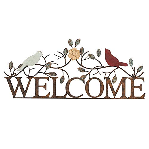 Garden Welcome Bird Sign