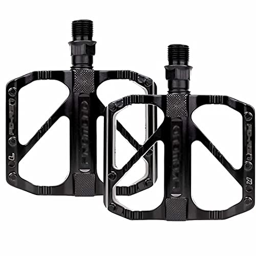 FSJD Mountain Bicycles Pedals, Platform Antiskid and Stable, for Mountain Bike Road Vehicles and Folding Bike,Black,10.5cm×9.1cm×1.8cm