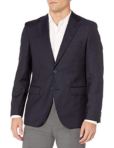 BUTTONED DOWN Men's Classic Fit Super 110 Italian Wool Hopsack Blazer Suit Jacket, Navy, 40 Regular