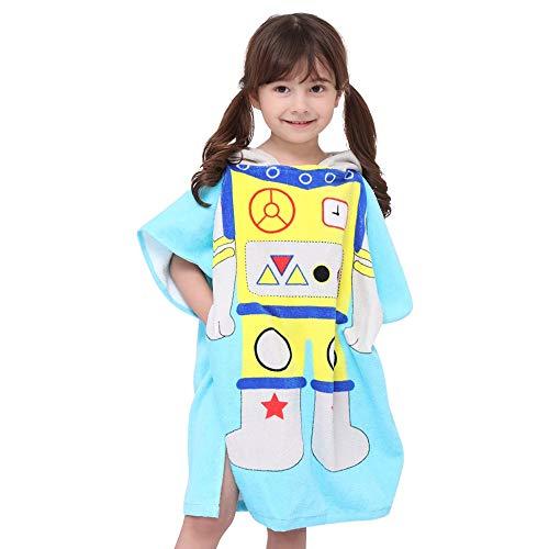 IVYSHIONCotton Strandhanddoek voor leeftijd 2-7 Jaar Jongen/Meisje Peuters en Kinderen, Multi-gebruik voor bad/douche/zwembad/Zwembad, Capuchon Poncho Badjas (24 * 24 Inches) Astronaut