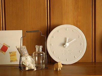 STUDIO M' 時計 白巻き |時計 clock 掛け時計 壁掛け 置時計 陶器