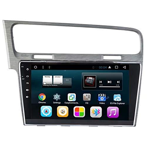 TOPNAVI pour VW Golf 2014 2015 2016 10.1Inch Android 7.1 Autoradio Lecteur stéréo avec GPS Navi 16 Go ROM 1 Go de RAM Quad Core WiFi 3G RDS Lien Miroir FM AM Bluetooth Audio Vidéo