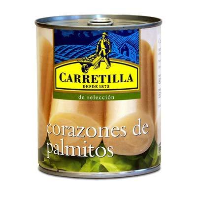 Carretilla - Corazones de Palmito- Producto Originario de Ecuador - Ideal para Ensaladas y Pizzas - 500 Gramos