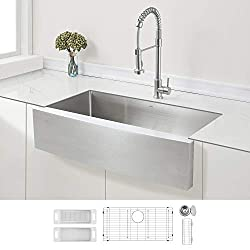 Zuhne Prato 36 Farmhouse Single Bowl Stainless Steel Kitchen Sink