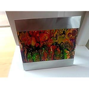 """Acrylbild""""Herbstzauber"""" Gemälde Pouring Fluid Painting Geschenk Unikat Einzelteil Wohnung Deko"""