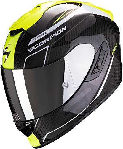 Scorpion Casco de moto EXO-1400 AIR CARBON BEAUX White-Neon