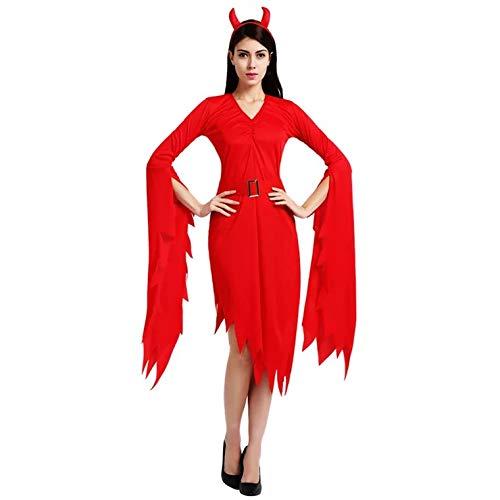 thematys® Disfraz de Vampiro del Diablo para Mujer Cosplay, Carnaval y Halloween - Talla única 160-180cm