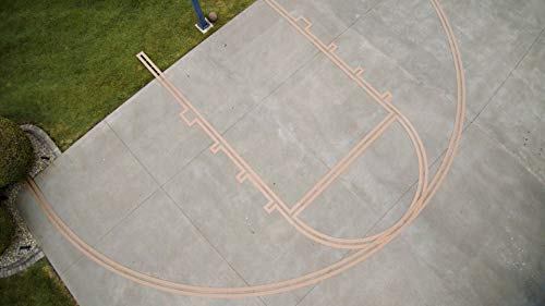 Murray Sporting Goods Basketball Stencil Court Marking Kit for Driveway, Asphalt or Concrete | Stencil Spray Paint Kit for Backyard Basketball Court