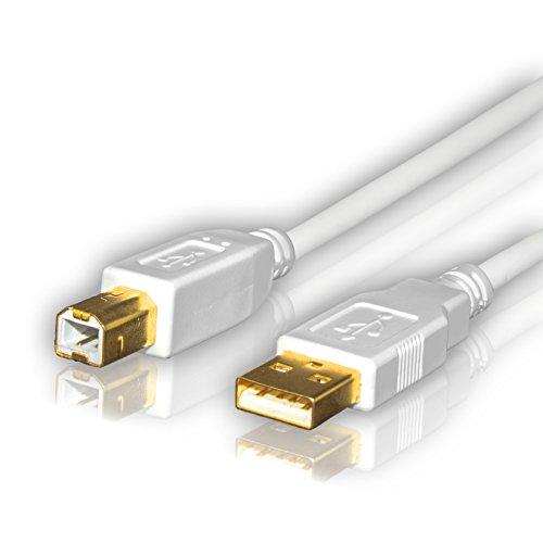 Sentivus UC040-100 USB 2.0 Kabel / Druckerkabel  (USB-A Stecker - USB-B Stecker), 1,00m, weiß