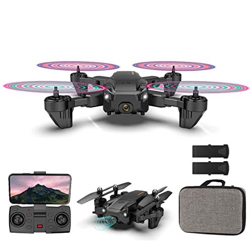 XIAOKEKE Drone con Telecamera 4K HD Drone Professionale, WiFi Video Diretta FPV Droni Telecomandati per Principianti, Mantenimento Dell'altitudine, Capovolgimento 3D (2 Batterie)