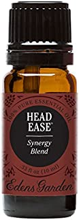 Edens Garden Head Ease Essential Oil Synergy Blend, 100% Pure Therapeutic Grade (Highest Quality Aromatherapy Oils- Headache & Massage), 10 ml