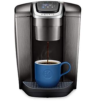 Keurig K-Elite Coffee Maker Single Serve K-Cup Pod Coffee Brewer With Iced Coffee Capability Brushed Slate  Renewed  12oz Steel Brew Size Programmable,