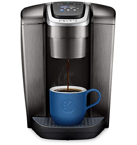 Keurig K-Elite Coffee Maker, Single Serve K-Cup Pod Coffee Brewer, With Iced Coffee Capability, Brushed Slate (Renewed), 12oz Steel Brew Size, Programmable,