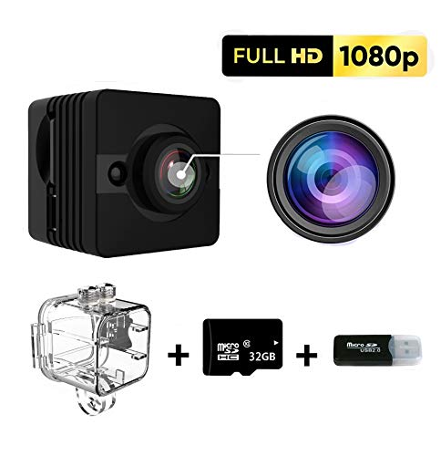 Outdoor Spy Camera Full HD 1080p, Waterproof, Night Vision Camera with 155° Wide Angle, Mini Spy Camera Wireless Hidden, Security Camera with Motion Detection for Car, Home, Office, Pet, Outdoor