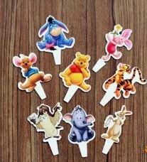 Winnie the Pooh Cupcake Flexi Picks - Set of 24