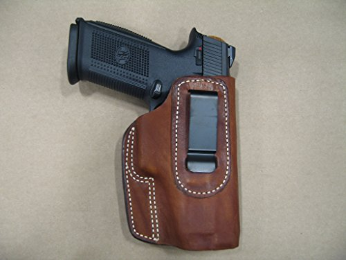 Ruger American Pistol 9mm /.45 IWB Leather In Waistband Concealed Carry Holster TAN RH