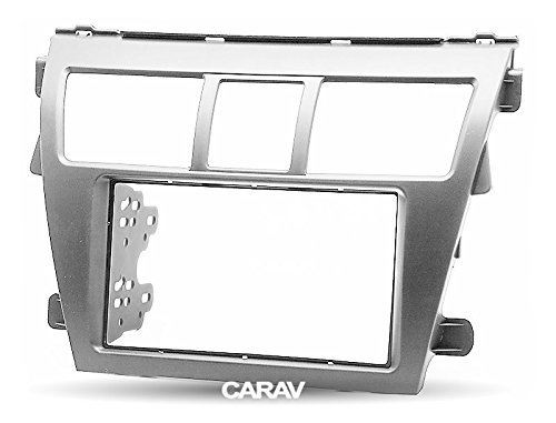 CARAV 11-164 2-DIN auto testa unità cruscotto kit installazione cruscotto per Vios 2007-2012, Belta 2005-2008, Yaris Sedan 2006+ (grigio argento)