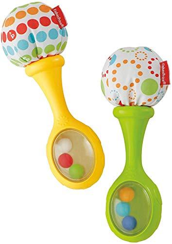 Fisher-Price Maracas musicales, juguete y sonajero para bebé +3 meses (Mattel...