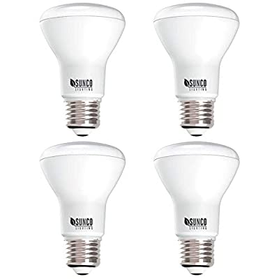 Sunco Lighting 4 Pack BR20 LED Bulb, 7W=50W, Dimmable, 4000K Cool White, E26 Base, Flood Light for Home or Office Space - UL & Energy Star