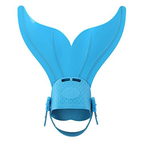 Aynefy - Aletas de buceo con cola de sirena ajustable, color azul
