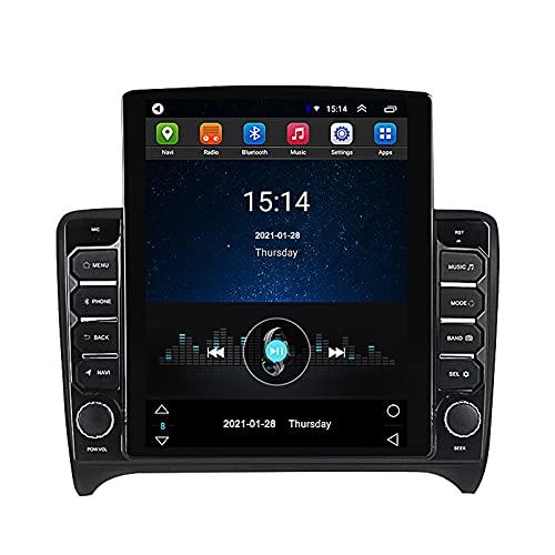 LIBINA Compatible con Audi TT 2006-2012 año, Sistema de Radio de Coche Andorid DIN estéreo de Coche, Pantalla táctil de 9,7 Pulgadas, navegación GPS Radio automática Bluetooth SWC + Carplay Opcional