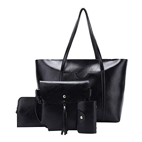 Handbag for Women Angel Kiss Shoulder and Purse Bag Fashion Tote Bag Top Handle Satchel Purse Set 4pcs