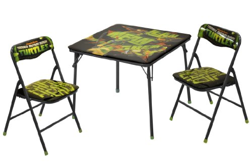 Product Image of the Nickelodeon Teenage Mutant Ninja Turtles 3-Piece Square Table and Chair Set