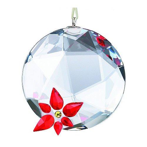 SWAROVSKI Crystal Poinsettia Window Ornament